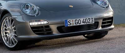 Porsche 911 with LED Daytime Running Lights