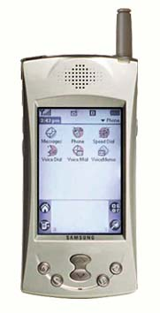 Коммуникатору Samsung SPH-I300 от роду уже год, хотя в прайсах российских фирм он до сих пор не появился