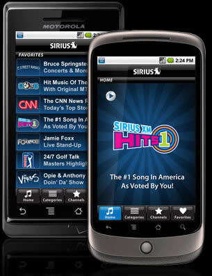 SIRIUS Satellite app for Android